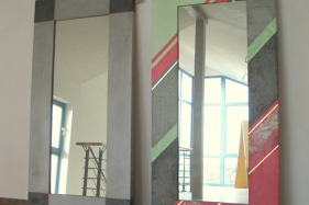 Spiegelrahmen gestaltet mit Pandomo