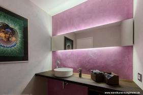Steinputz im Badezimmer