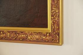 Stuckrahmen mit Malerei